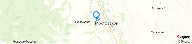 База отдыха Хуторок на Яндекс карте координаты 44.425329086947556,40.740702936967935