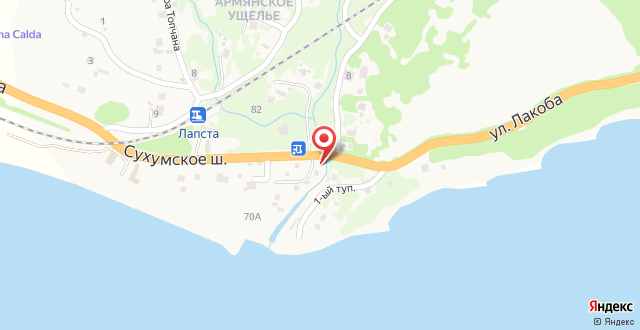 Guesthouse on Lakoba 3 на карте