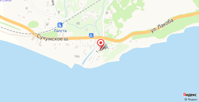 Guest House on Lakoba на карте