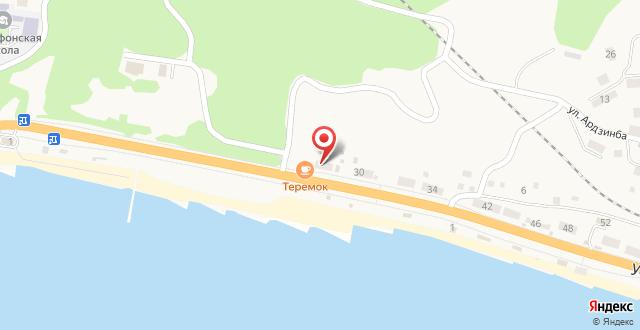 Коттедж Новый Афон на карте
