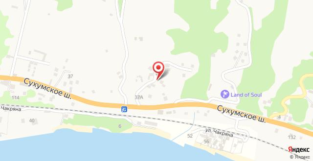 Guest House on Sukhumskoye shosse 1 на карте