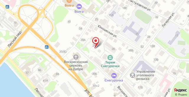 Отель Воскресенская на карте