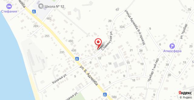 Гостевой дом Мелани на Славянской, 7 на карте