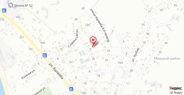 Гостевой дом На Адлейба 29 на карте