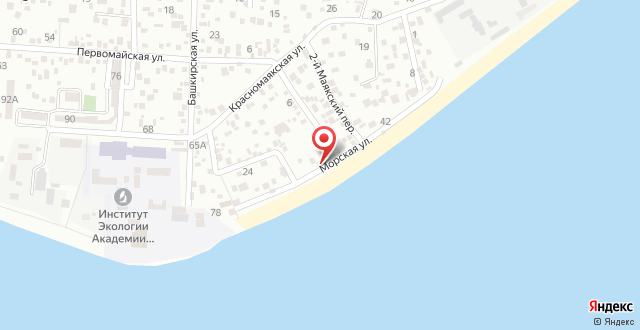 Гостевой дом Абхаз-Маяк на карте