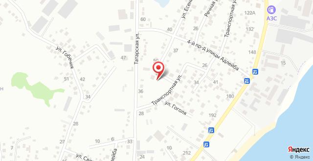 Апартаменты На Курчатова 27 на карте