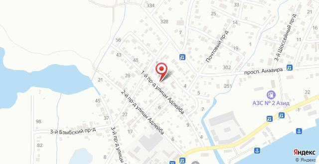 Гостевой дом Роза на карте