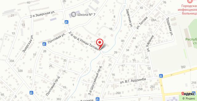 Гостевой дом На Титова на карте
