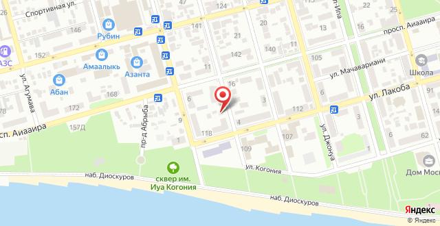 Дом отдыха В центре Сухума на карте