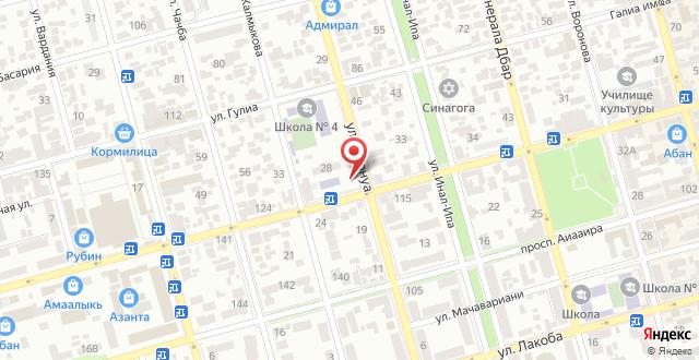 Семейный отель На Ардзинба 114 на карте