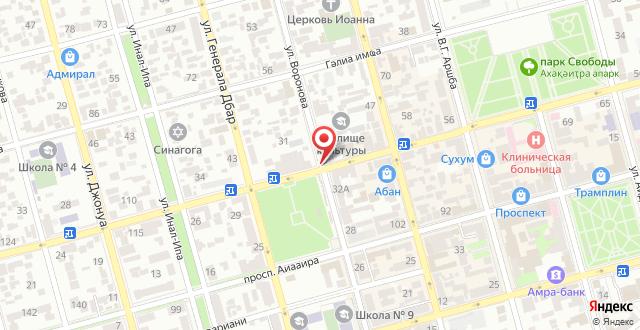 Гостевой дом На Воронова 86 на карте