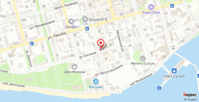 Отель Акуа на карте