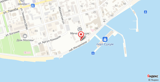 Гостевой дом Диоскурия на карте