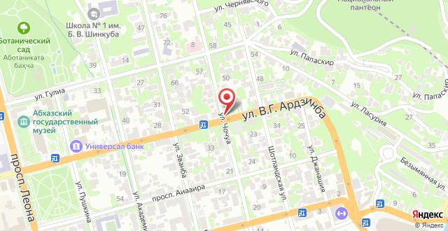 Гостевой дом Чочуа 65 на карте