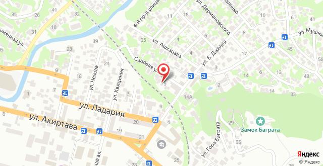 Гостевой дом Чегем на карте