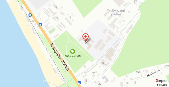 Апартаменты На Кодорском шоссе 665 на карте
