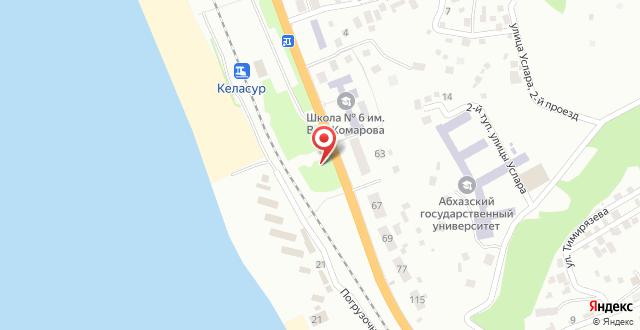 Гостевой дом Песчаный берег на карте