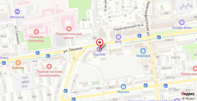 Хостел Гуд Лак Центральный на карте