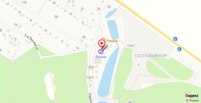 Гостиница Риони на карте