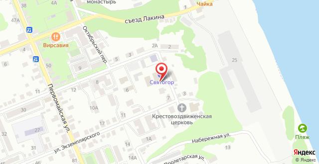 Гостиница Святогор на карте