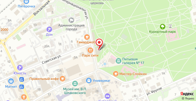 Гостиница PLAZA Essentuki на карте