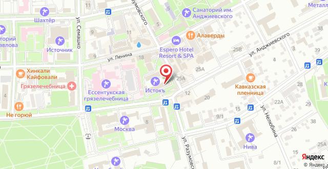 Санаторий Истокъ на карте