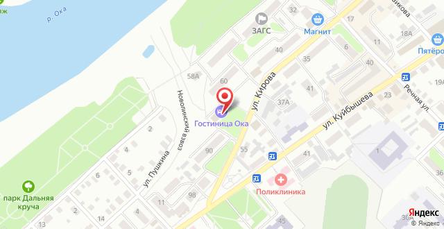 МУП Гостиница Ока на карте