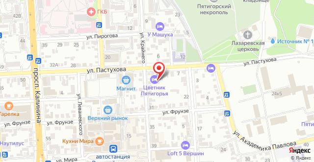 Гостевой дом Цветник Пятигорья на карте