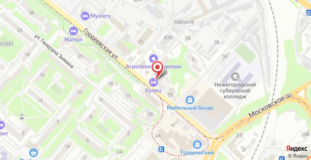 Отель Купец на карте