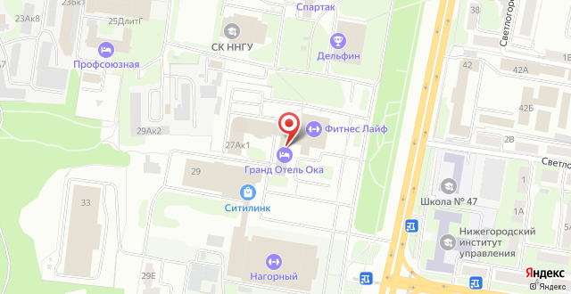 Отель Ока Премиум на карте
