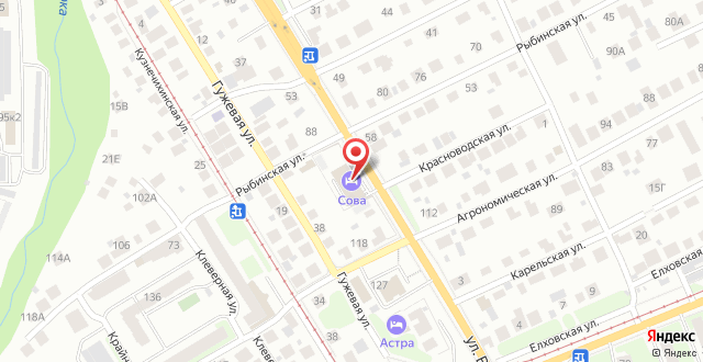 Отель City Hotel Sova на карте
