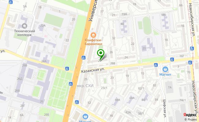 Сбербанк Волгоград Советский район, ул. Казахская 28 карта