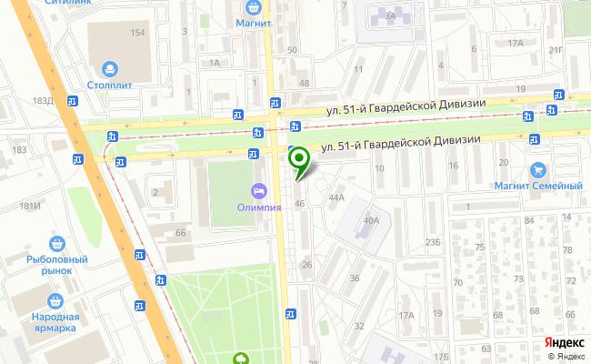 Сбербанк Волгоград Дзержинский район, ул. Краснополянская 46 карта