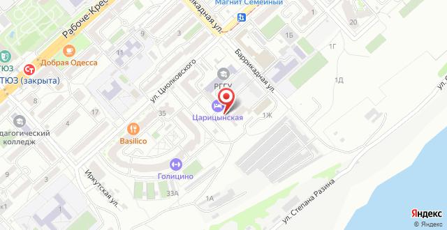 Гостиница Царицынская на карте