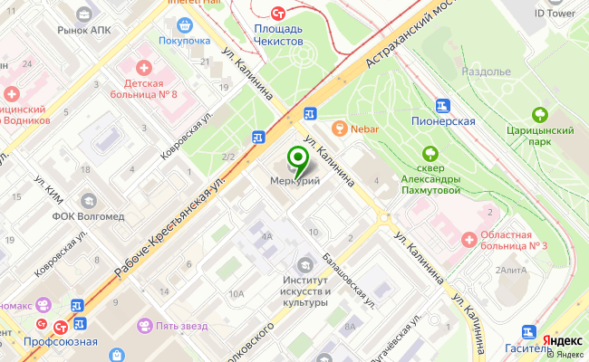 Сбербанк Волгоград ул. Калинина 13 карта