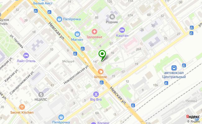 Сбербанк Волгоград Центральный район, ул. Новороссийская 14, корп.Б карта