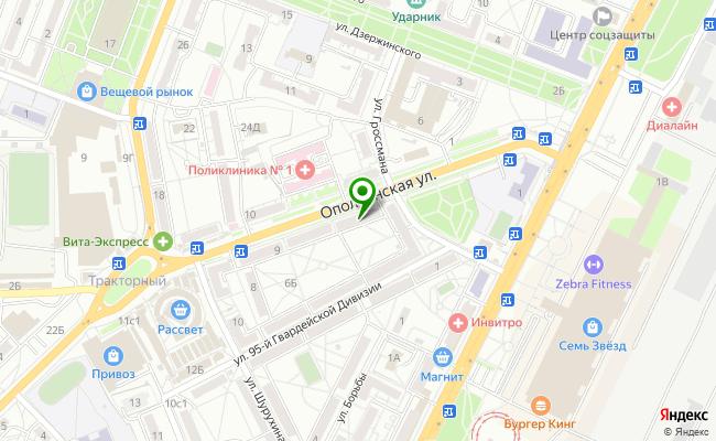 Сбербанк Волгоград Тракторозаводской район, ул. Ополченская 5 карта