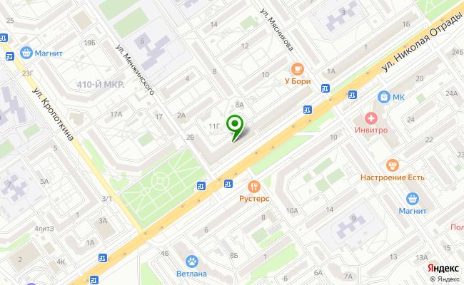 Сбербанк Волгоград Тракторозаводской район, ул. Менжинского 11, корп.А карта