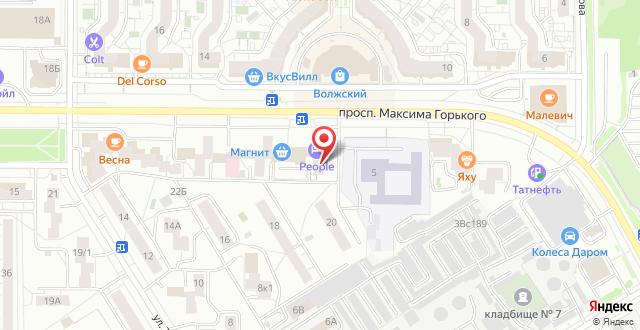 Отель People на карте