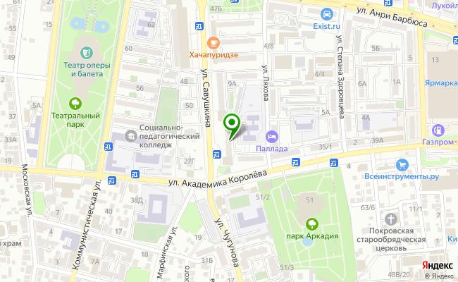 Сбербанк Астрахань Ленинский р-он, ул. Савушкина 51 карта