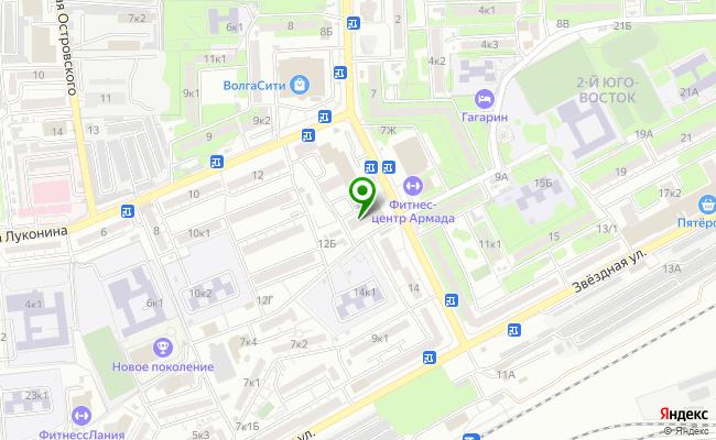 Сбербанк Астрахань Советский р-н, проезд Воробьева 12, литер А карта