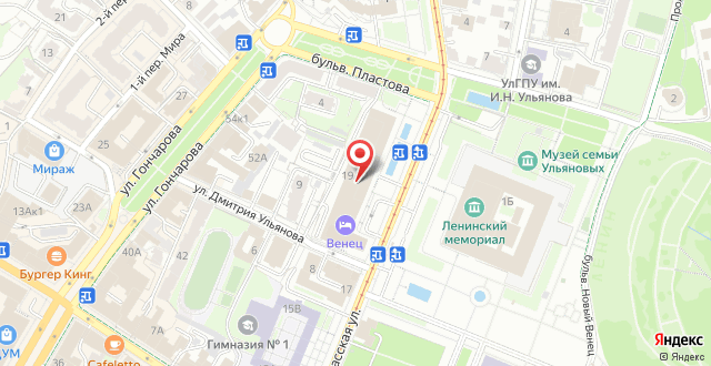 Гостиница Венец на карте