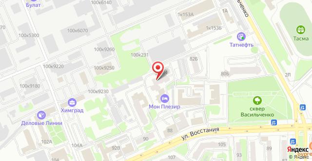 Гостиница Мон Плезир на карте
