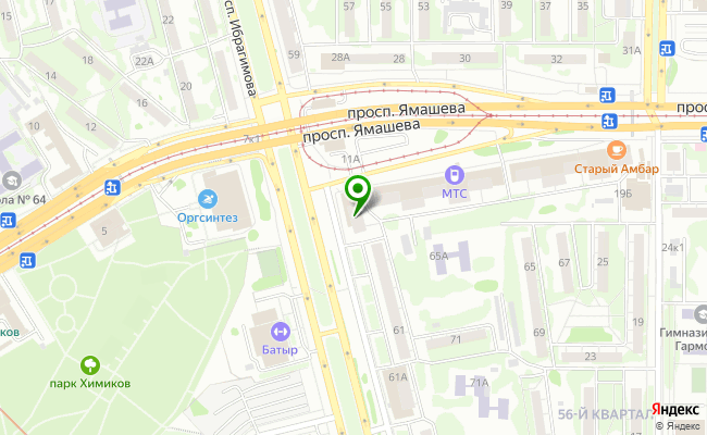 Сбербанк Казань проспект Х.Ямашева 9 карта
