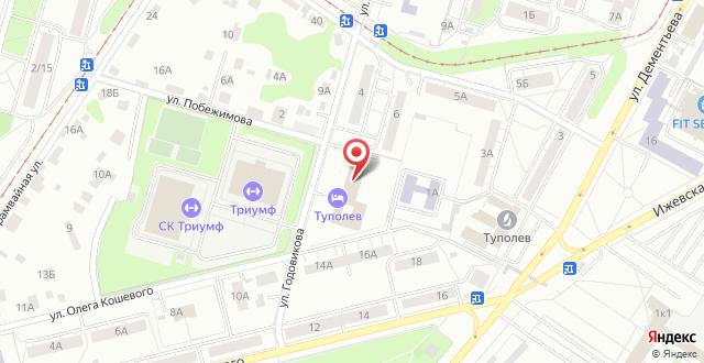 Гостиница Туполев на карте