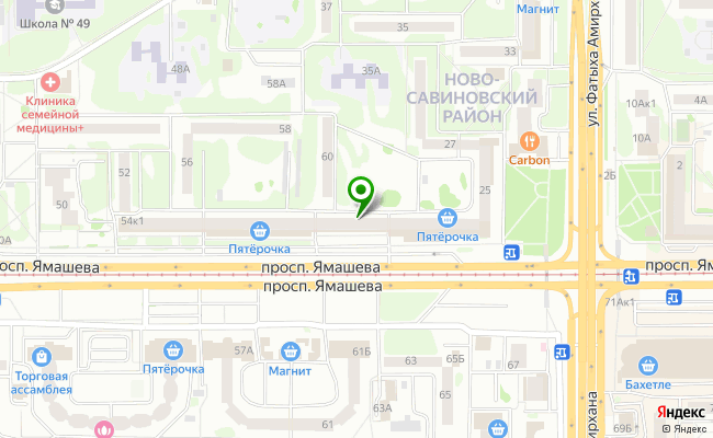 Сбербанк Казань проспект Х.Ямашева 54, корп.3 карта