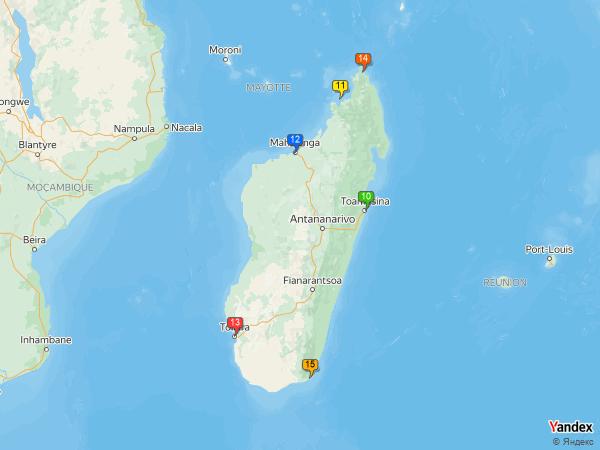 Crude oil to Madagascar
