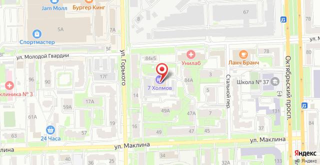 Гостиница 7 Холмов на карте