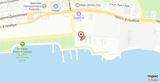 Отель Boulevard Baku Autograph Collection на карте