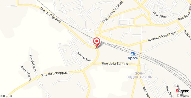 Appart'City Arlon - Porte du Luxembourg на карте